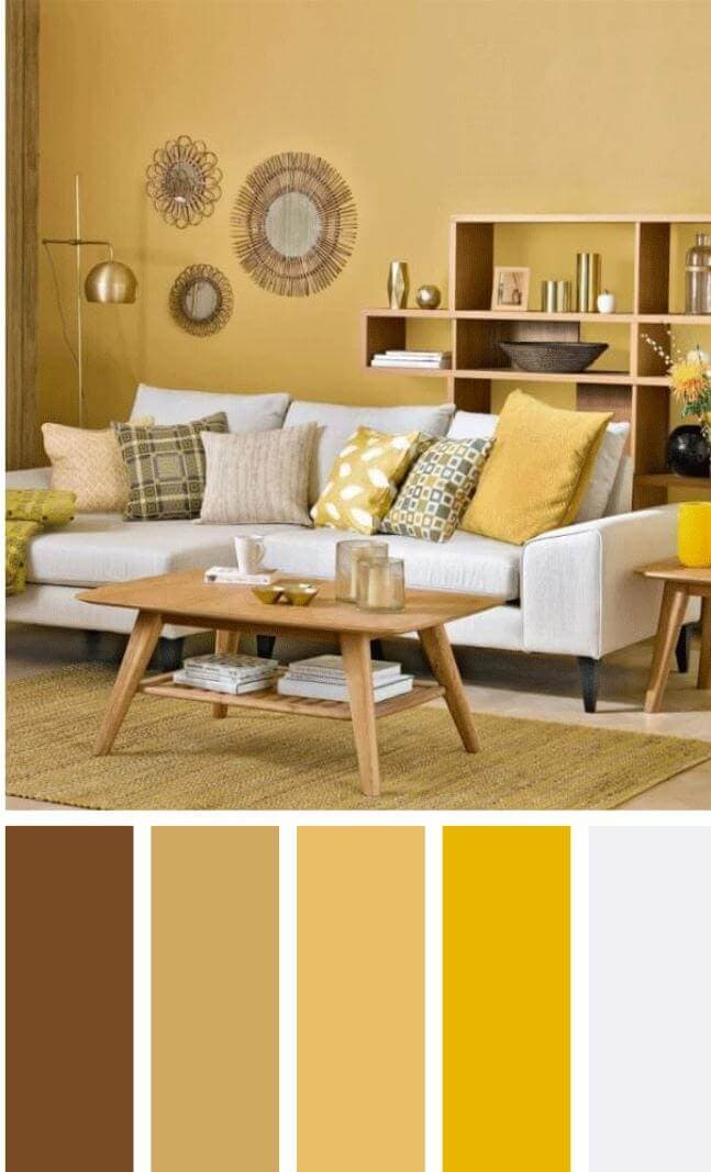 brown color schemes for living room