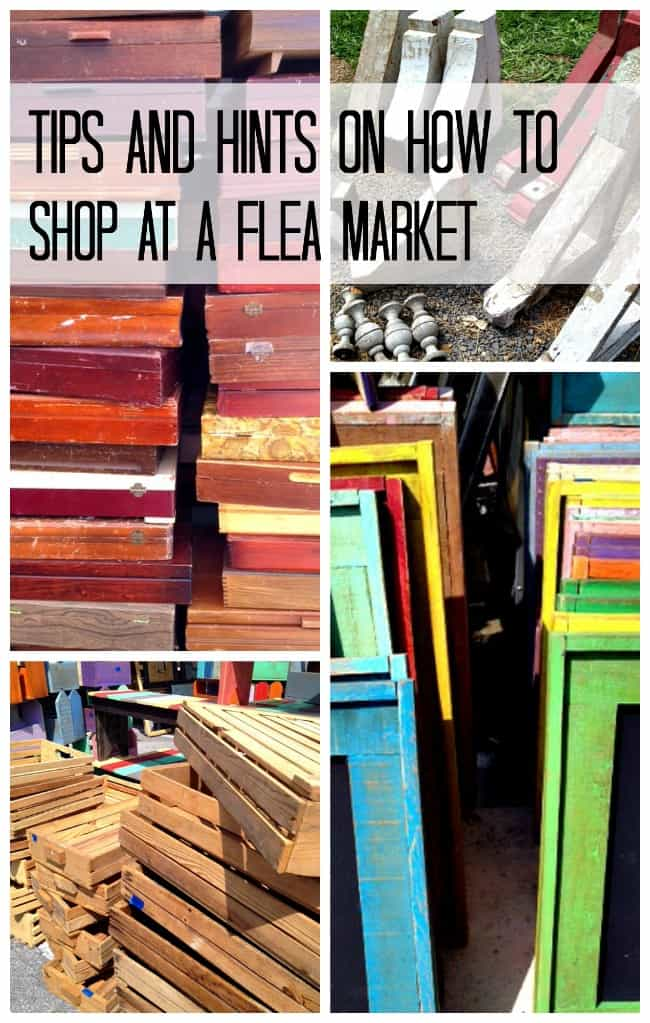 tips and hints on how to shop at a flea market