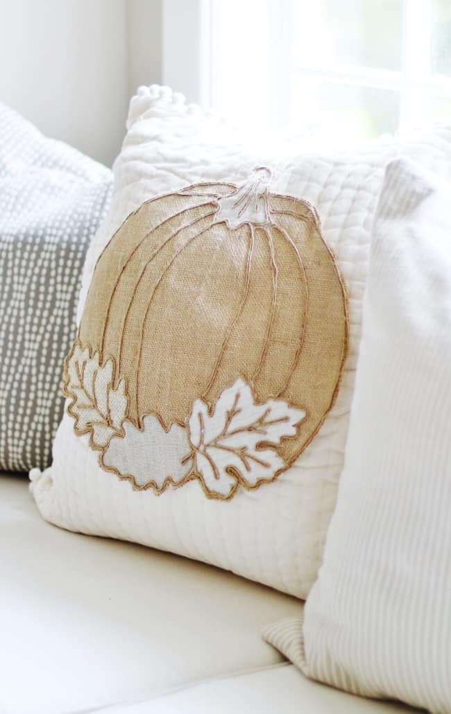 no sew pumpkin pillow project