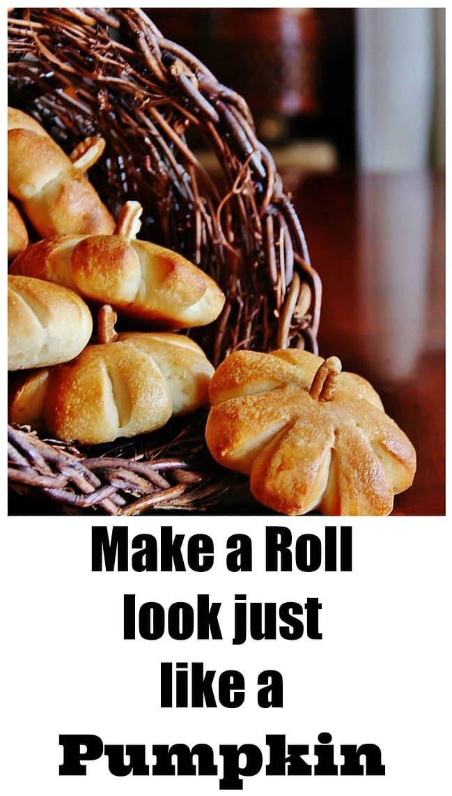 Make a roll that looks just like pumpkins