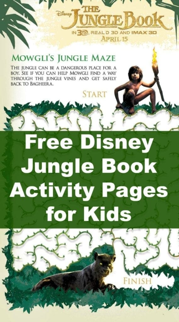 Jungle Book Activity Pages