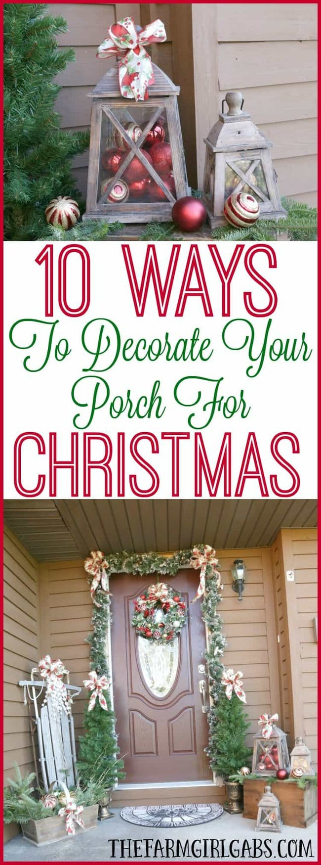 It's time to deck the halls for Christmas! Here are 10 Ways To Decorate Your Porch For Christmas.