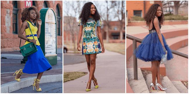 Tutu skirt, flare skirt, and floral dress