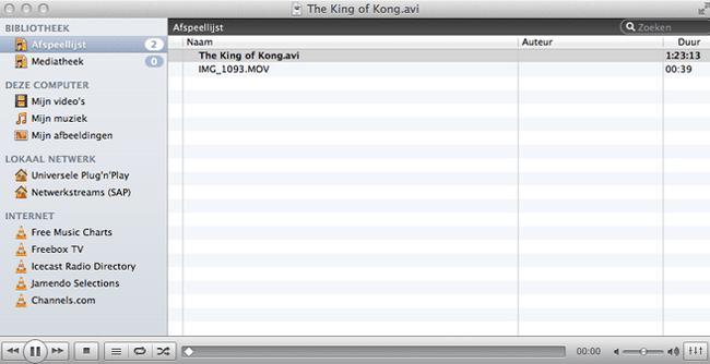 De VLC media speler werkt probleemloos samen met AVI bestanden.