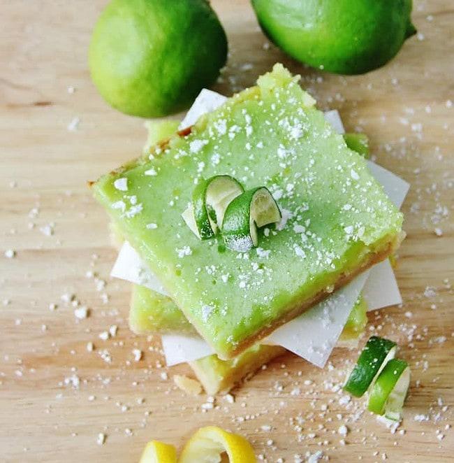 Finished lemon lime bars