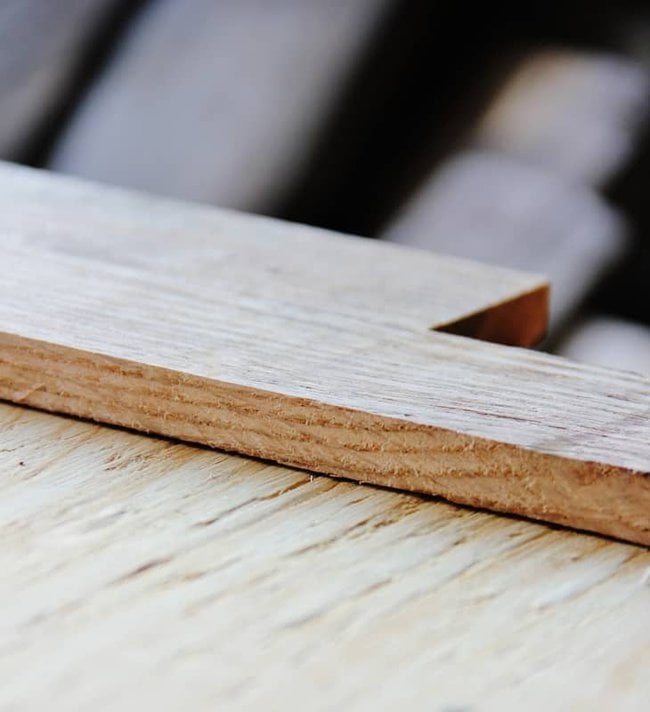 Start making your pallet wood letter by cutting out a piece of plywood.