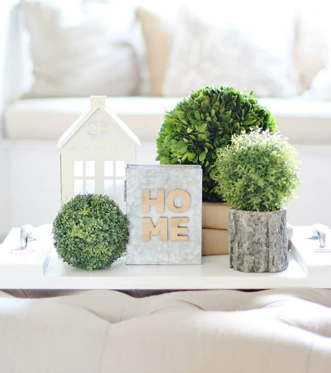 how to decorate a coffee table rustic arrangement