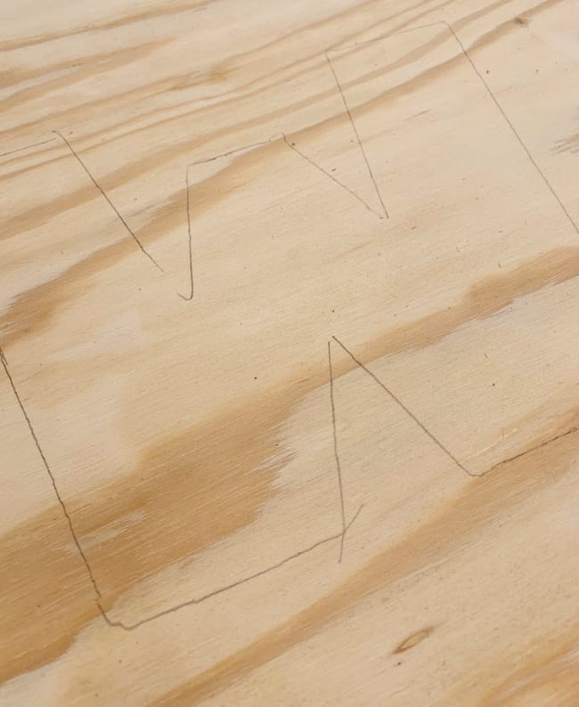 pallet wood letter plywood tracing