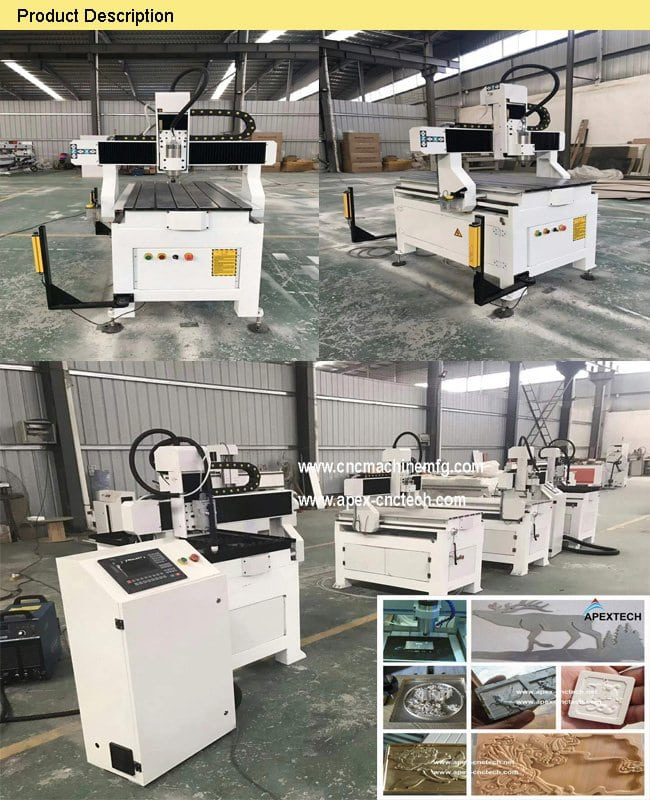 A6090 Sign Making Mini Cheap Factory Cnc Router Cheap Price for Wood, Stone, Aluminum board, Plastic, Density board, Wave board, PVC, PCB
