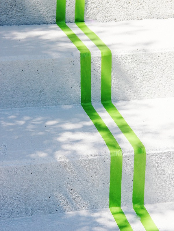 Remove the inner piece of tape for a perfectly measured stripe