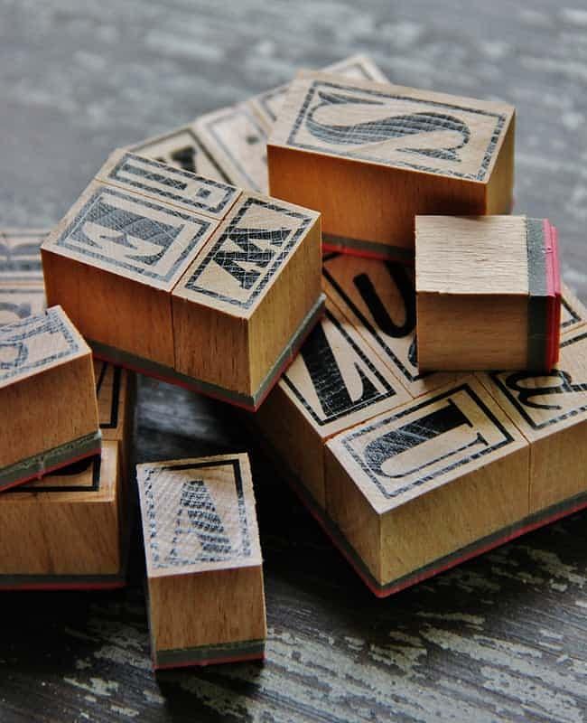 Next, find letter stamps