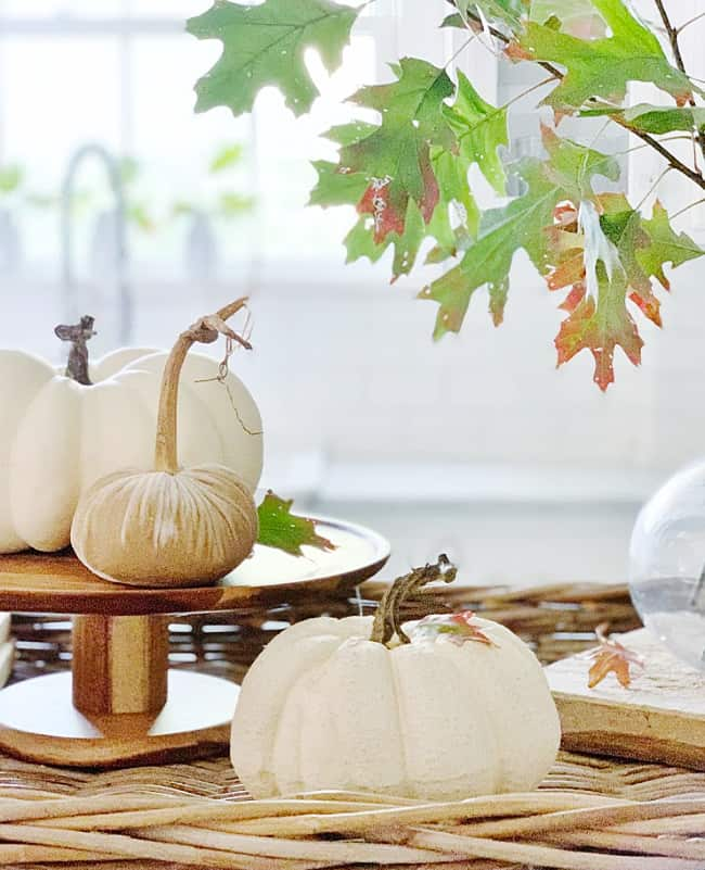 fall kitchen decorating ideas centerpiece
