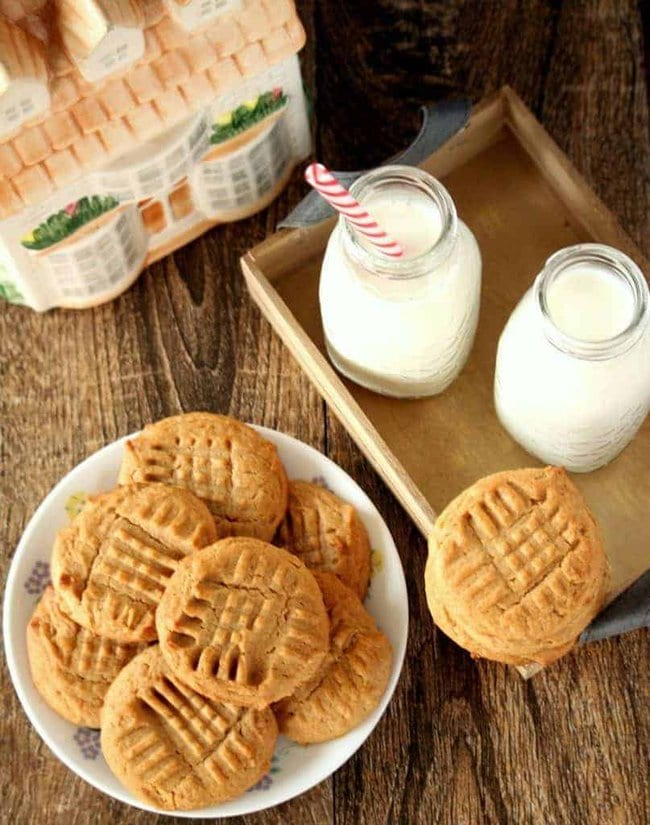 Peanut Butter Whole Wheat Honey Cookies