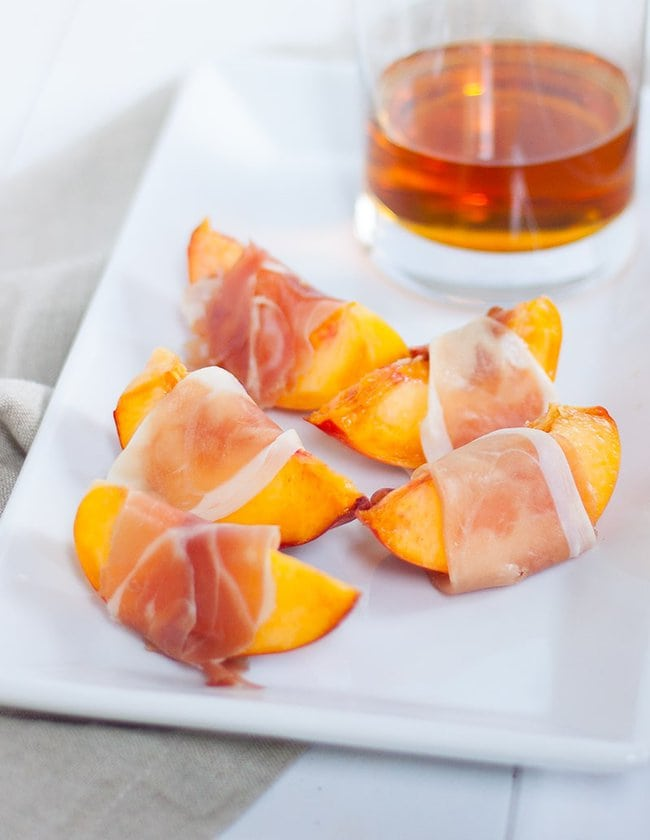 Prosciutto Wrapped Peaches