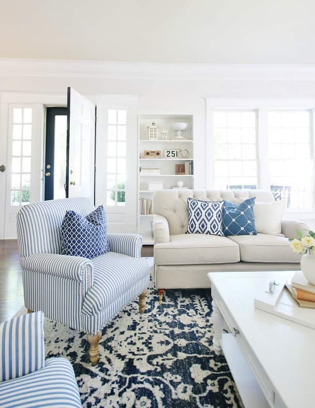 blue and white decor ideas