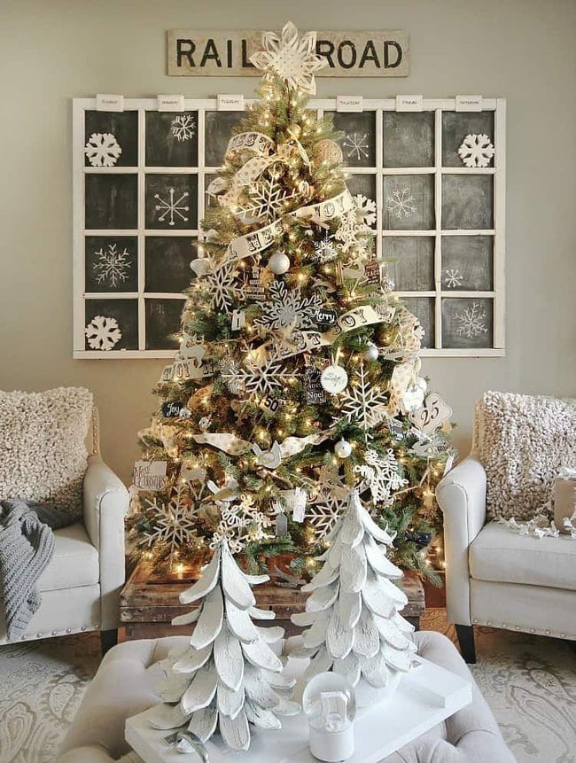 Christmas how to decorate a coffee table
