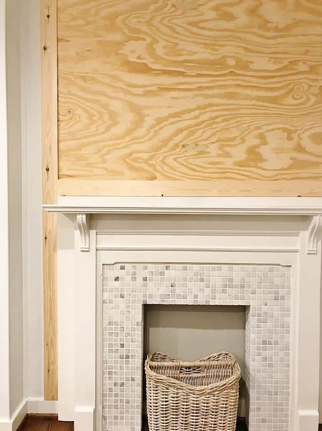 faux fireplace surround built-in