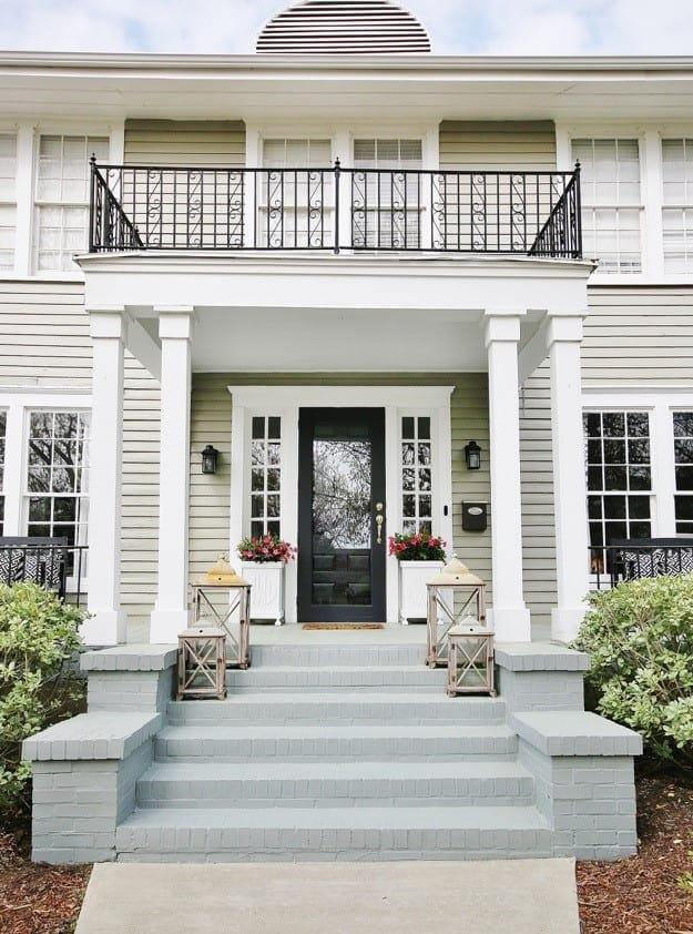 painted brick before and after exterior decorating ideas