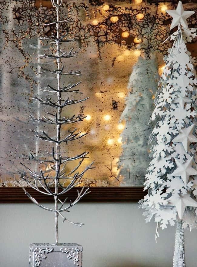Christmas trees sparkle