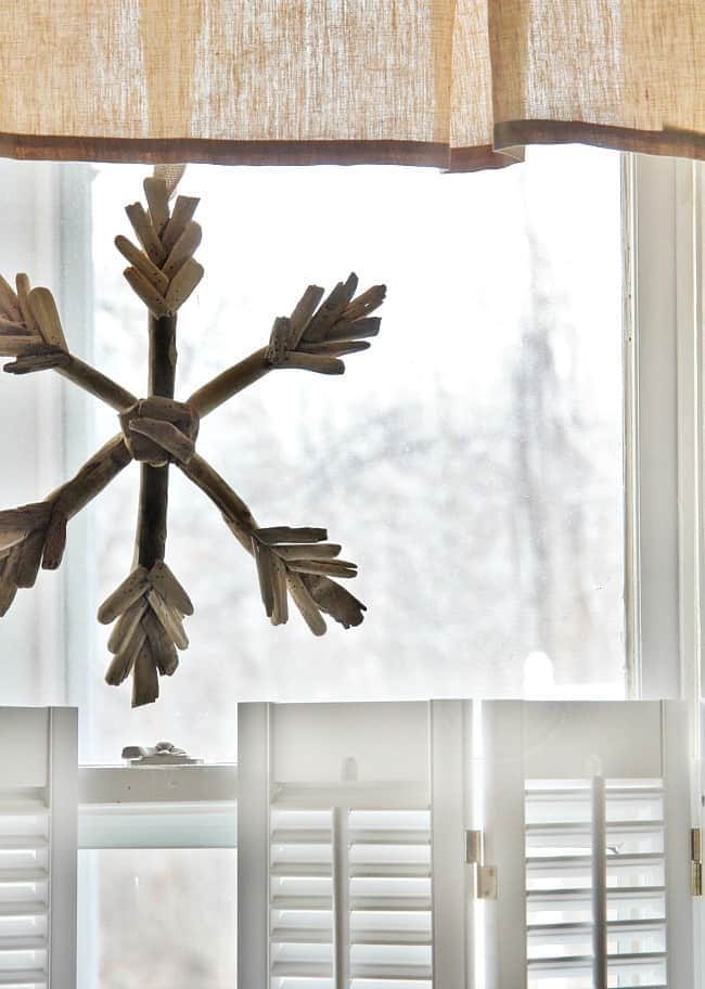 snowflake at the window