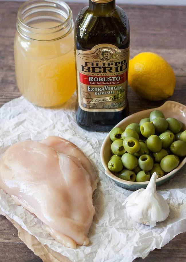 Lemon Olive Chicken Breasts