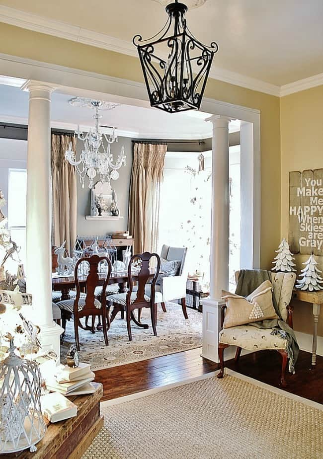 Christmas decorating dining room