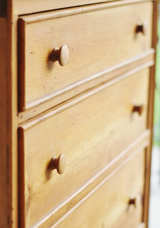 I've been hunting for a pine dresser for a bedroom makeover