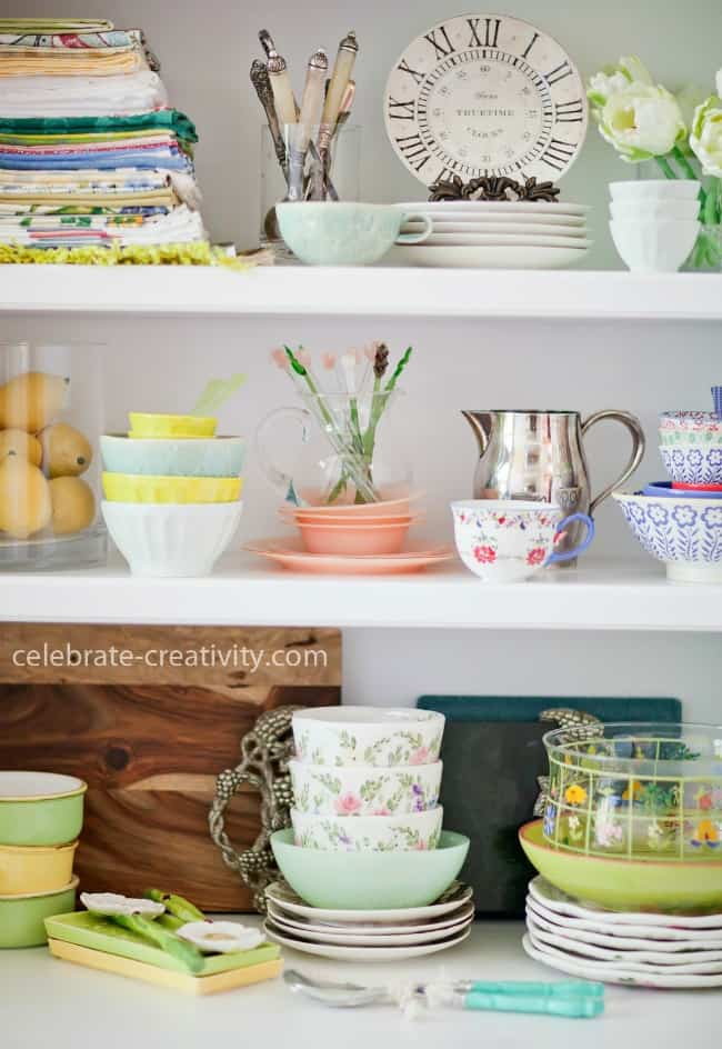 Eclectic and colorful dishes can make a photoshoot more vibrant and interesting photography styling tips