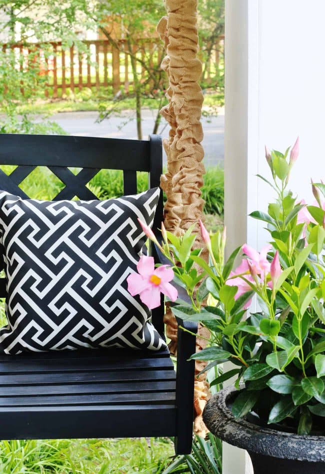 how to cover porch swing chains diy