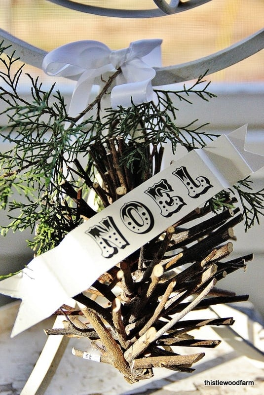 This rustic ornament goes perfectly with my decor