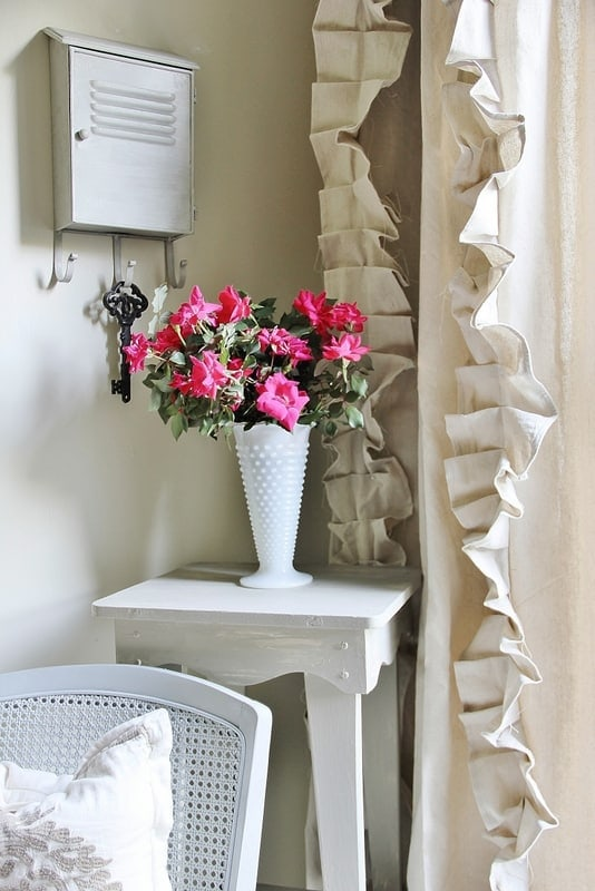 These drop cloth ruffle curtains are perfect