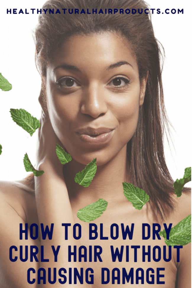 How to blow dry curly hair without causing damage