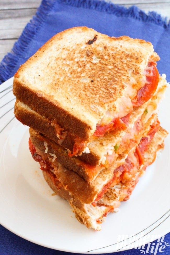 Grilled Cheese Pizza Sandwiches