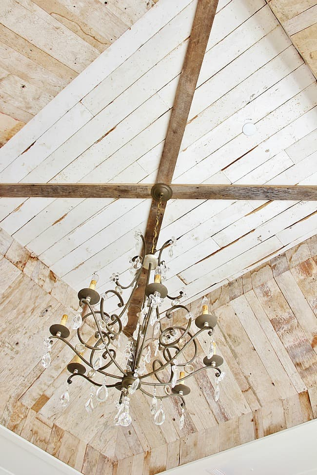 modern farmhouse barn wood ceiling