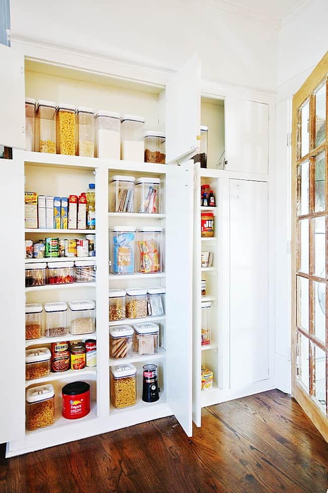 how to organize a pantry cabinet after