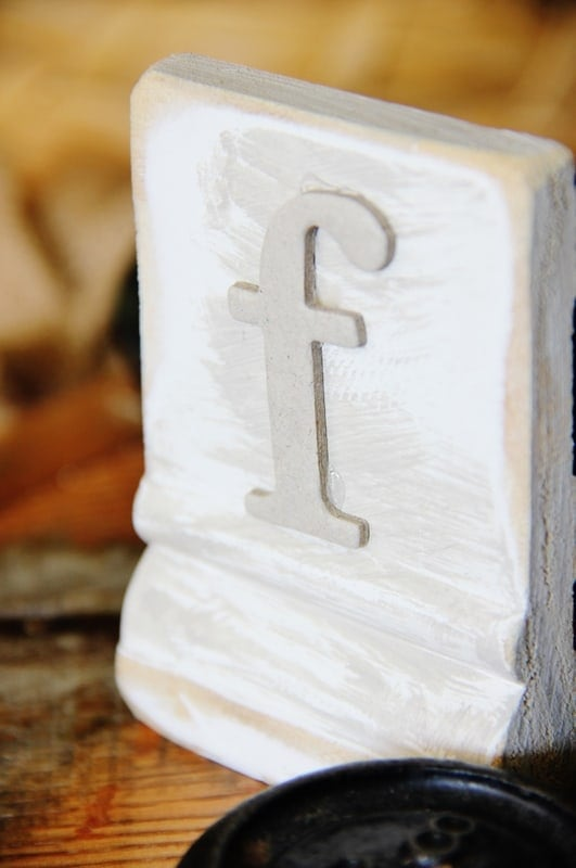 Make your own wood block letters