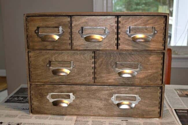 DIY IKEA Hack Moppe Apothecary Storage Chest #IKEA #DIY #Apothecary #IKEAHacks