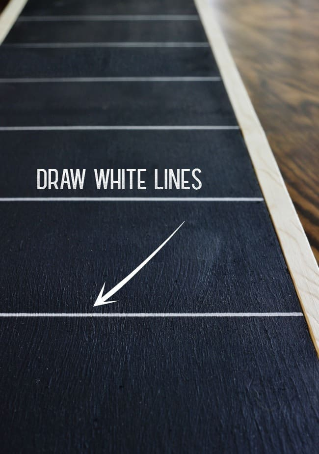 Draw white lines on the board