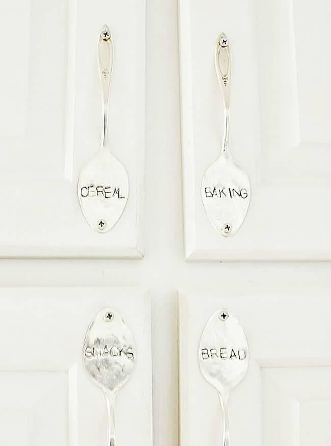 stamped silver handles