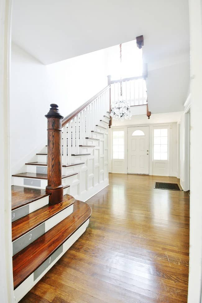 The gorgeous stairs and entryway