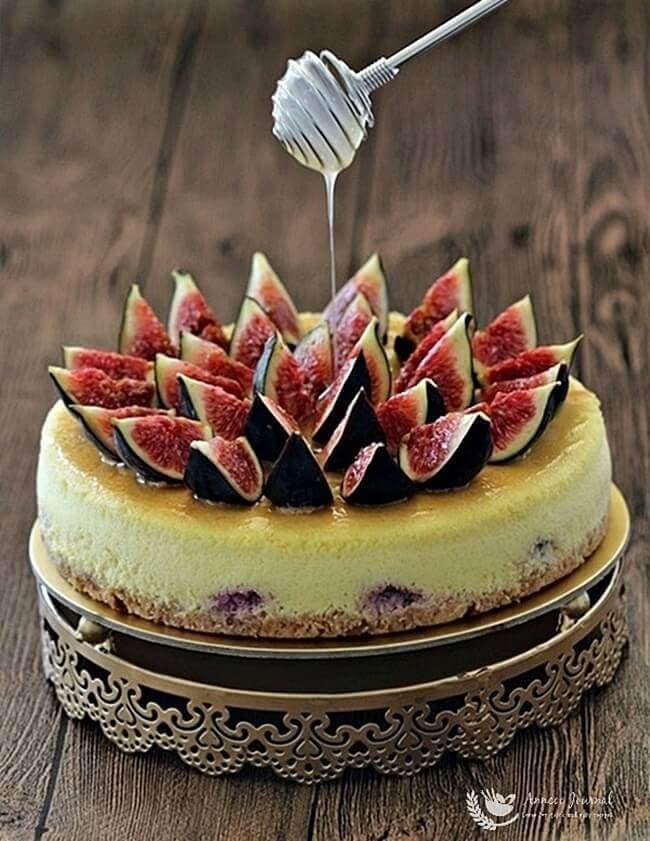 fig honey lemon cheesecake