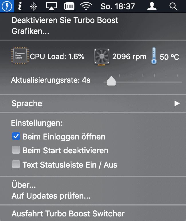 Turbo Boost Switcher