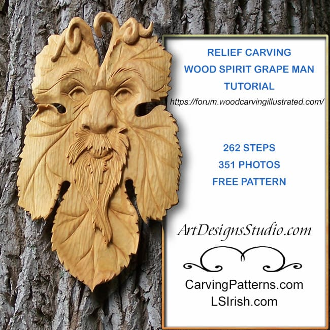 free wood carving wood spirit project