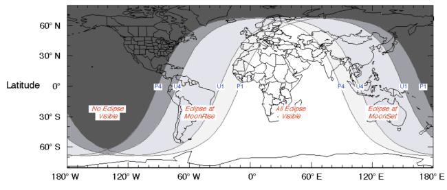 Partial Lunar Eclipse - 16-17 July 2019 Diagram