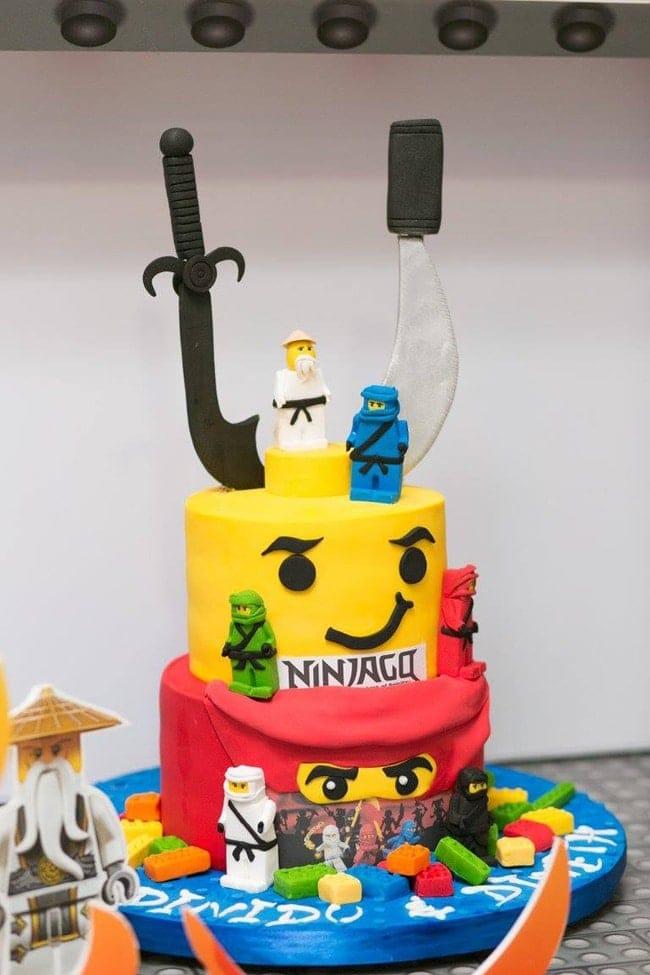 Awesome Ninjago Themed Birthday Party Cake