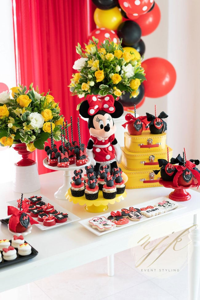 Minnie Mouse Birthday Party Dessert Table