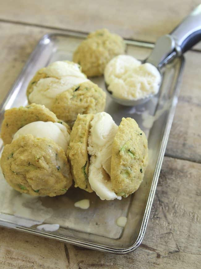 Lemon zucchini cookie ice cream sandwiches 2