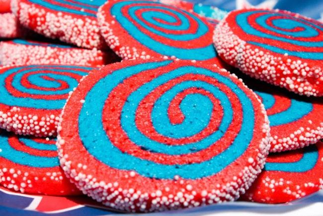 Firework Pinwheel Cookies