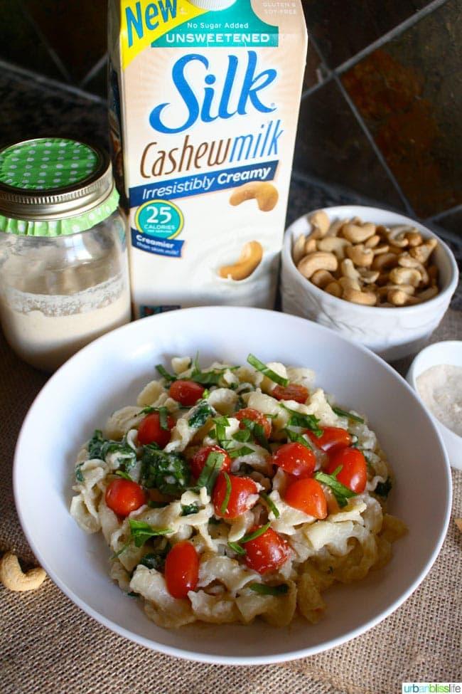 Silk Cashew Milk Spinach Alfredo Recipe | UrbanBlissLife.com