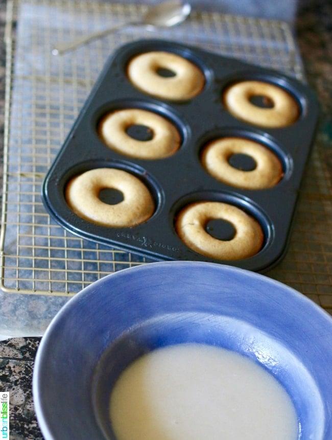 Baked Cinnamon Sugar Donuts with Three Glazes. Recipe on UrbanBlissLife.com